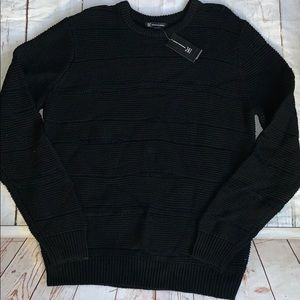 Men's INC revel rock sweater deep black